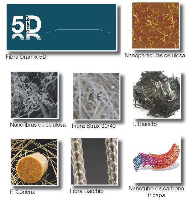 fibras utilizadas en concreto hormigón