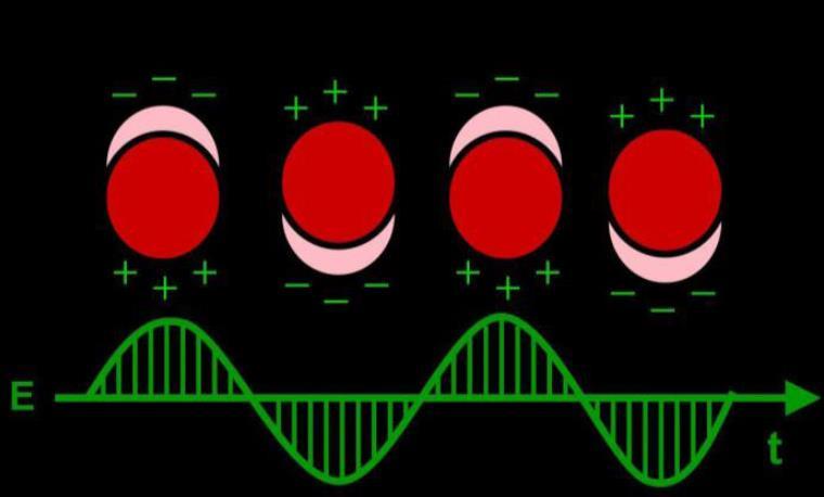 Resonancia plasmónica (polarización) de una nano partícula metálica