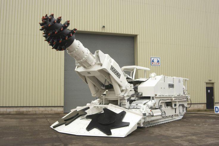 Las máquinas rozadoras en túneles y minas